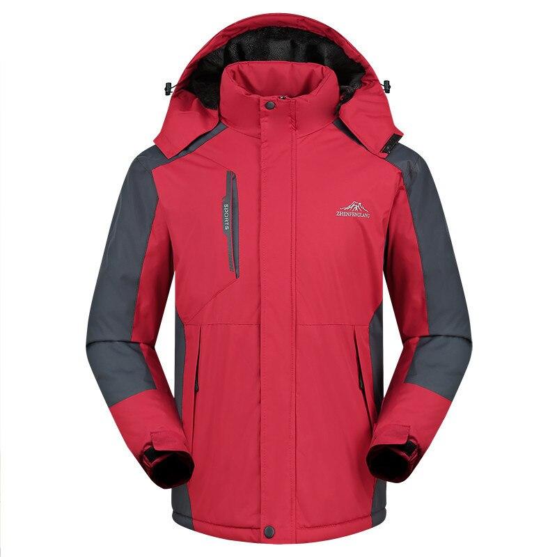 Vestes de Ski hommes femmes chaleur thermique imperméable escalade randonnée veste Sports d'hiver Snowboard Ski neige extérieur manteau 5XL