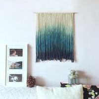 Handmade Macrame boho Wall Hanging art decor tapestry with Fabrics primitive decor 3d Gift