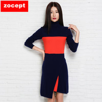 Zocept 2016 Fashion New Slim Thin Female Long Sweater Knitted Cashmere Blend Turtleneck Pullovers Women Winter