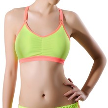 2017 New Women Push Up Crop Tops Sports Bra Breathable Fitness Stretch Underwear  Yoga Bras With Padding Z1