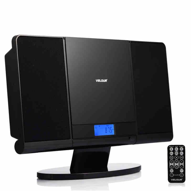 TRANSCTEGO CD Player Home Mutil-Function CD Speaker For Study Antenatal Education FM Radio USB AUX-In Earphone Jack LED Display