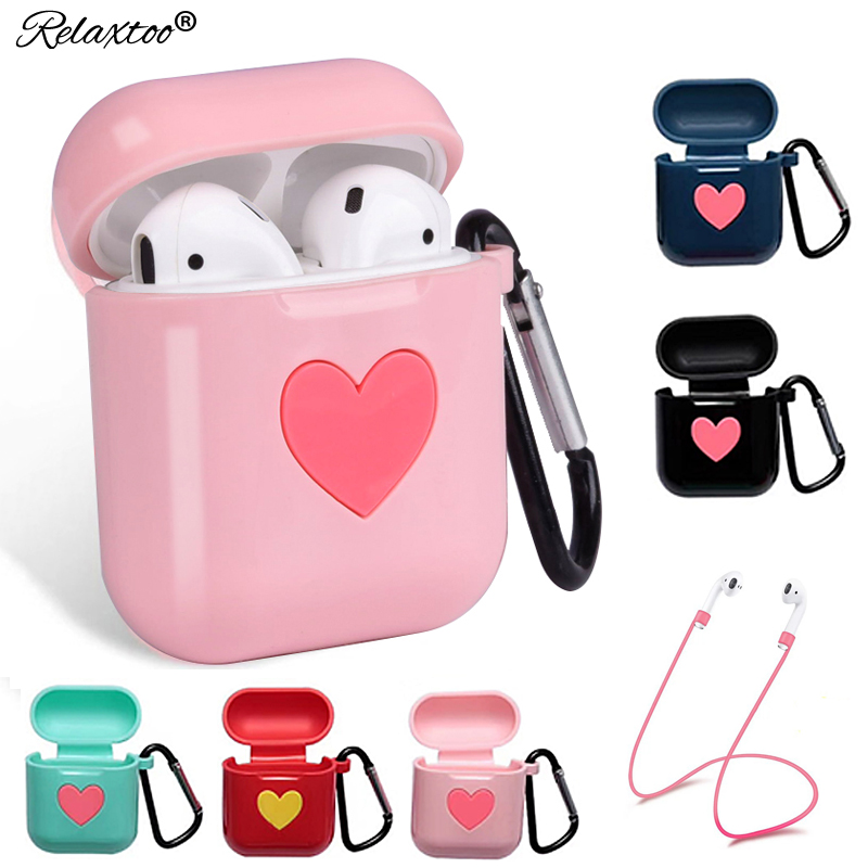 Cute Soft Silicone Wireless Earphone case For AirPods Air Pods accessories cover Bluetooth headphone Case for Apple AirPods