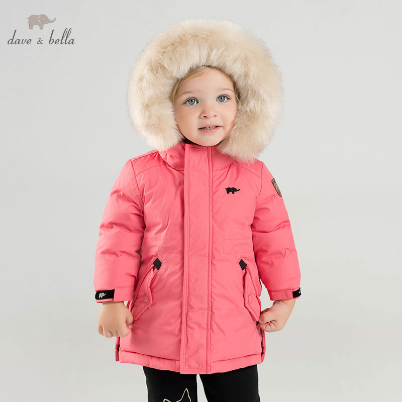 DB8825 dave bella winter unisex boys girls down jacket children white duck down padded coat kids