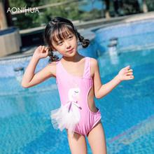 AONIHUA One Piece Swimsuit For Girl Waterproof Girls Swimwear Sleeveless Travel Batching suit Swim Wear 2-12 Years