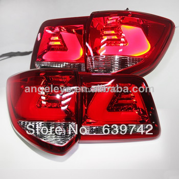 For TOYOTA Fortuner LED Strip  Rear Tail Lights 2011-2013 year Red White Color