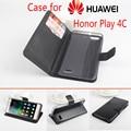 Huawei honra c caso de telefone de luxo marca Baiwei virar pu caso capa de couro estilo carteira com função de suporte e slot para cartão