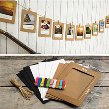 10pcs/set DIY Photo Frame Wooden Clip Paper Picture Holder for Wedding Birthday Party Baby Shower Booth Props Decoration