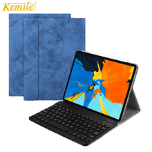For New iPad Pro 11 Case W Wireless Bluetooth Keyboard Smart Leather Protective Cover inch 2018 tablet Keypad