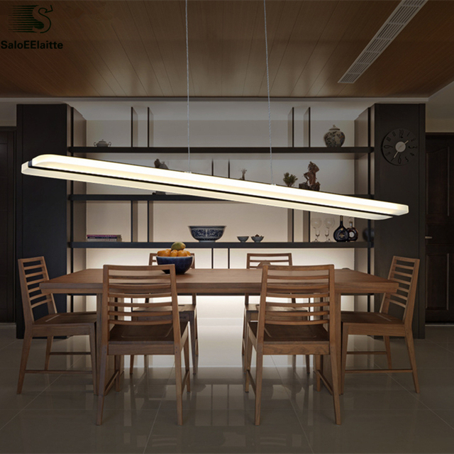 Modern Dimmable Led Luminaria Pendant Lamp Lustre Acrylic Dining Lights Indoor Lighting Hanging