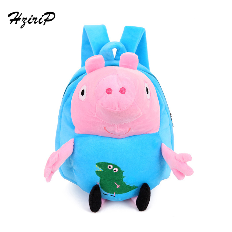 Lovely Children Plush Cartoon Bags Kids Backpack Children School Bags 3D Pig Bags For Boys Girls Brinquedos Kids Toys 5 Colors