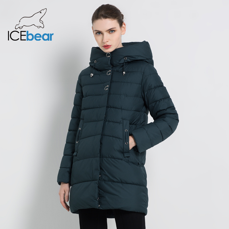 ICEbear 2019 New Winter Women Jackets High Quality   Parkas   Coat Casual Female Clothing Woman Coats Winter Apparel GWD18089I