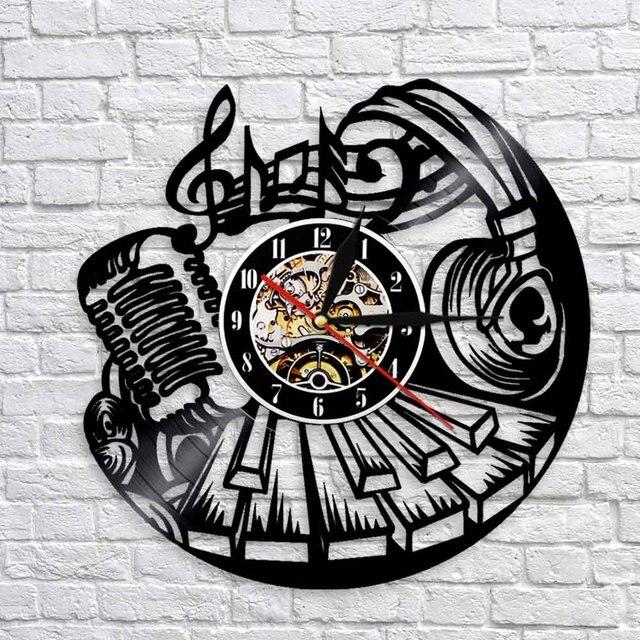 1 Buah Musik Dinding Menonton Vinyl Record Jam Dinding Alat Musik Modern  Desain Dekorasi Rumah Antik fef0c68b21
