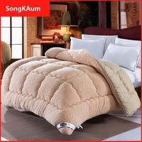 SongKAum איכות שמיכות שמיכות טלאי צמר אופנה סופר חם שמיכת גמל שמיכת שמיכות שמיכת החורף לעבות חם