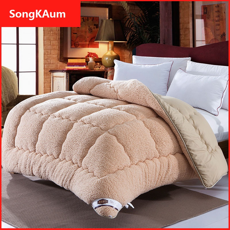 Pure 100/% Cotton Cover Pure 100/% Wool 300GR Fill Bed Duvet Single Double King