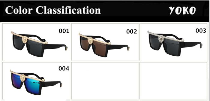 4ae34628992a New Hot-selling Medusa Anna-Karin Karlsson men sunglasses Gold 3D Lion  fashion brand designer sun glasses oculos masculino 96876