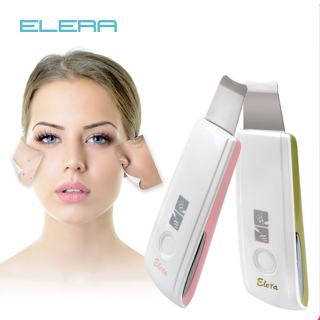 2018 новый ультразвуковой ионный кожи скруббер перезаряжаемые дермабразия очищающее средство для лица высокочастотная вибрация пилинг массаж Spa