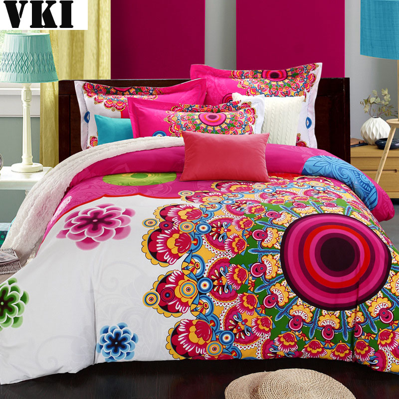 100 Organic Cotton Quilt King Size Bohemian Duvet Cover