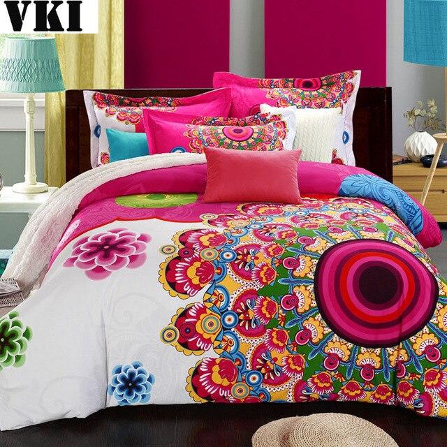 100 Organic Cotton Quilt King Size Bohemian Duvet Cover On Sale