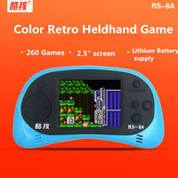CoolBaby Handheld Game Console 2.5 inch Game Machine Built 260 Games Classic Game PSP Support AV Double Player + retail package