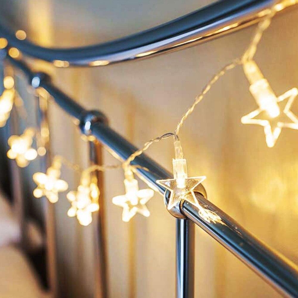 LED string 10M 33ft AC110V/220V Christmas New Year wedding festival pendant star bulbs fairy decorative light white warm white
