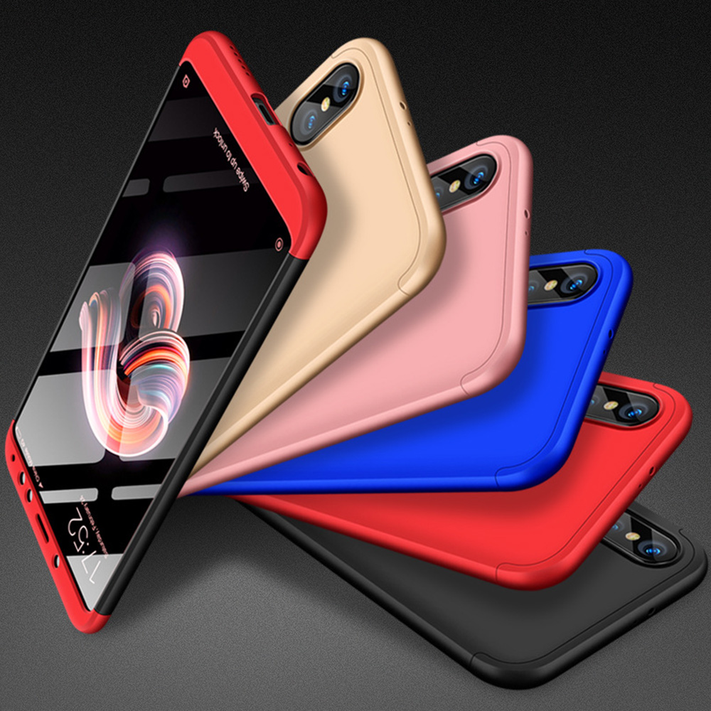 360 Full Protection Shockproof Case For Xiaomi 8 Lite Max Fashion 3 in 1 All inclusive For Xiaomi Redmi Note 5 6 Lite 9 SE 6A 5A in Fitted Cases from Cellphones Telecommunications