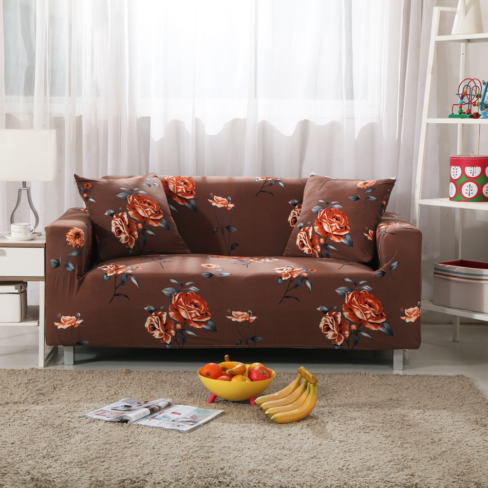 Brown Universal Stretch Furniture Covers For Living Room