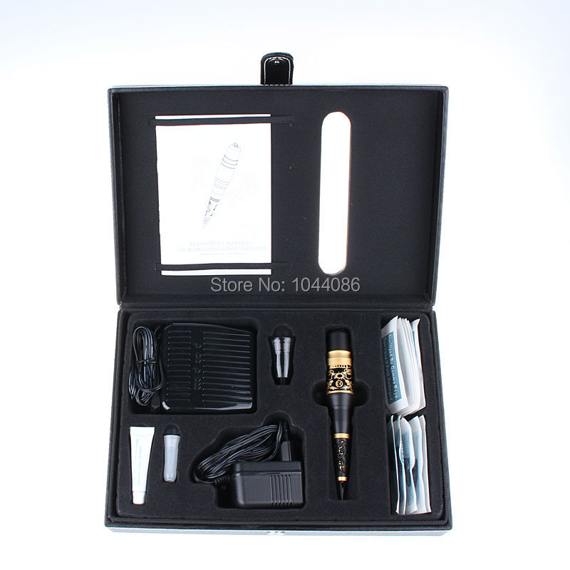 1 set big permanent tattoo makeup machine kit with dragon for Tattoo pen kit