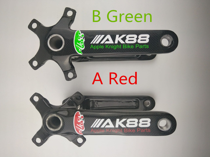 New AK88 Carbon fiber mountain road bicycle crank crankshaft set купить