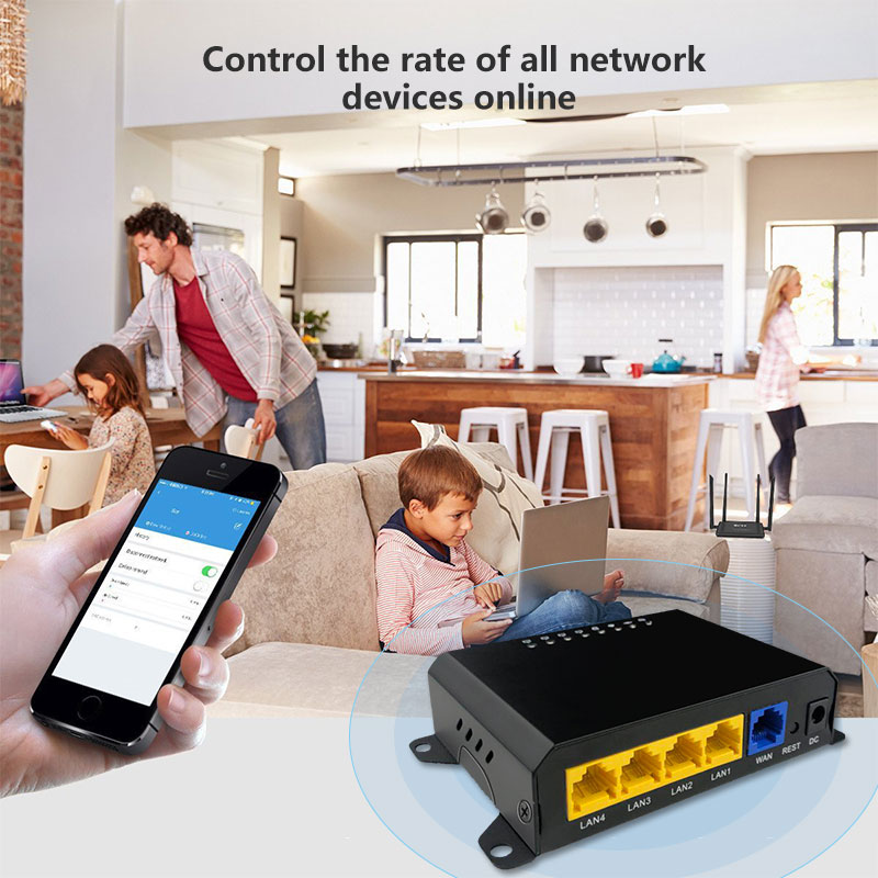 Cioswi Gateway Wired Router Control The Network of All Online Devices View And Set Network Status of the device In Real Time 3