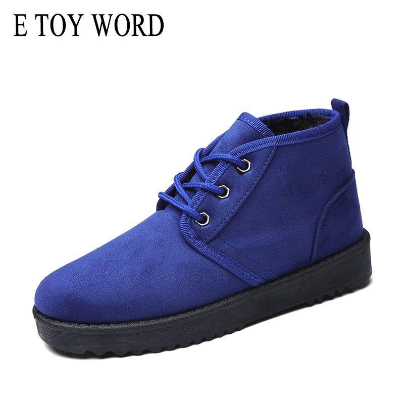 E TOY WORD 35 43 Big size women boots 2019 new winter women Cotton shoes ankle boots plus velvet warm Non slip snow boots in Ankle Boots from Shoes