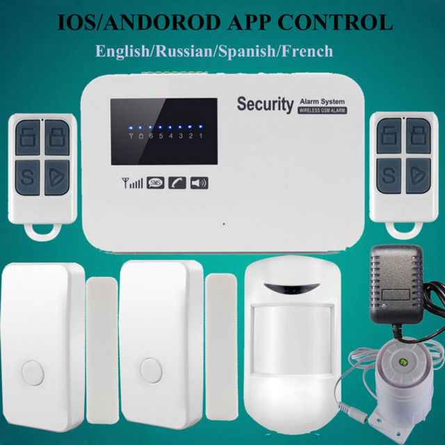 IOS & android app wireless and wired GSM alarm system relay output ...