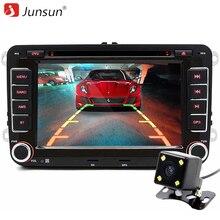 """Junsun 7 """"2 din coche reproductor de dvd de radio del gps para volkswagen vw golf 6 passat B6 touran sharan jetta polo tiguan con envío regalo"""