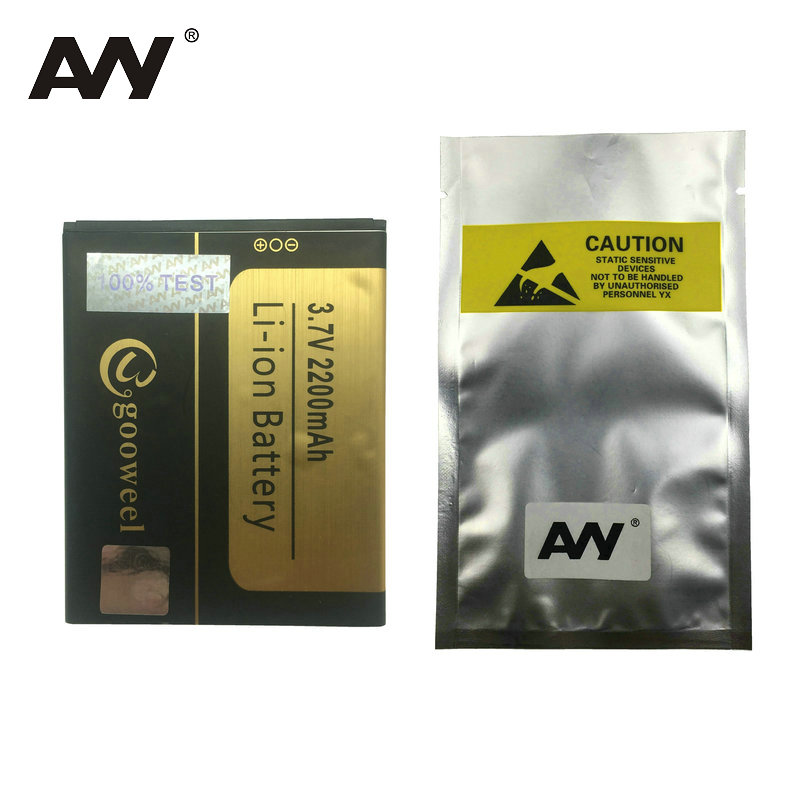 AVY 2200mAh Battery For Gooweel S7 5.0 Inch Mobile phone Replacement Li-ion Battery 100% Tested In stock