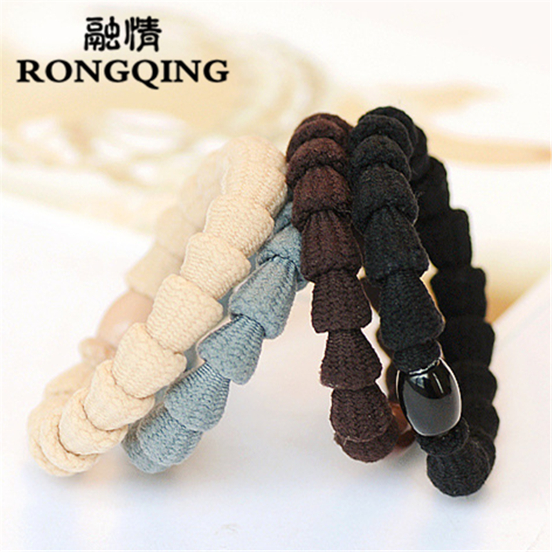 RONGQING 100pcs/lot Colour random delivery Mixed wholesale bead Hair jewelry for women