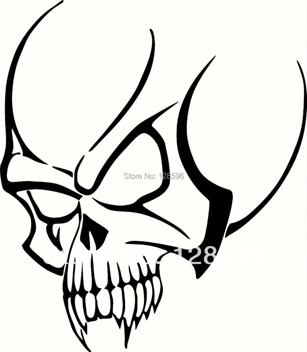 Tribal-Tattoos Tribal-Skull-For-Car-Window-Tattoo-Vinyl-Sticker