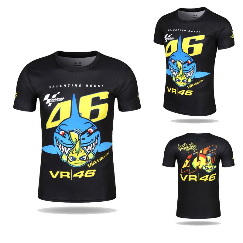 Prix pour Valentino Rossi VR46 46 Requin Motocross Jersey vélo Vélo De Course De Moto Vélo Moteur QUICK-DRY À Manches Courtes T-shirt