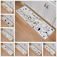Cartoon Nordic Forest Animal Print Door Mat Kitchen Carpet Living Room Hallway Bathroom Entrance Non slip Floor Mat Home Decor