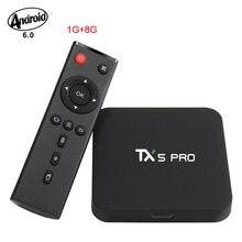 S905X Tanix TX3 Pro Amlogic Androide Cuadro 6.0 TV 2.4G Wifi 1G/8G KODI 16.1 Unidades Top Box Quad Core 4 K Inteligente Multi-media Del Jugador