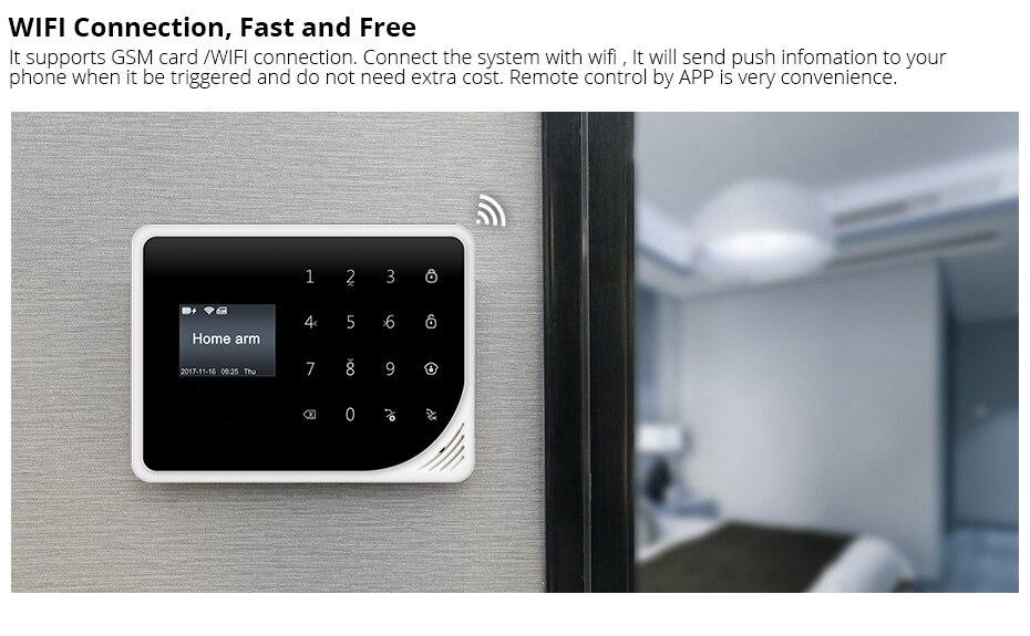 Yobang Security GSM Home Burglar Security Alarm System PIR Motion Detector APP Control Sensor Alarm Smart Fire Smoke Detector - 2