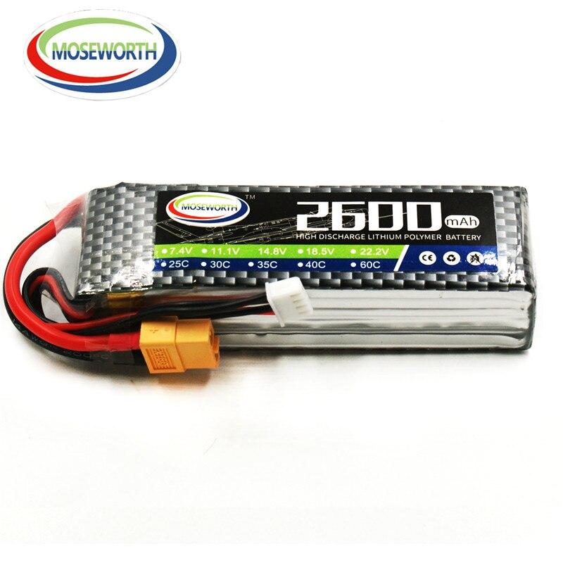 MOS 3 S 11.1 V 2600 mah 35c RC lipo batterie pour RC hélicoptère avion Drone Li-Po batteria livraison gratuite