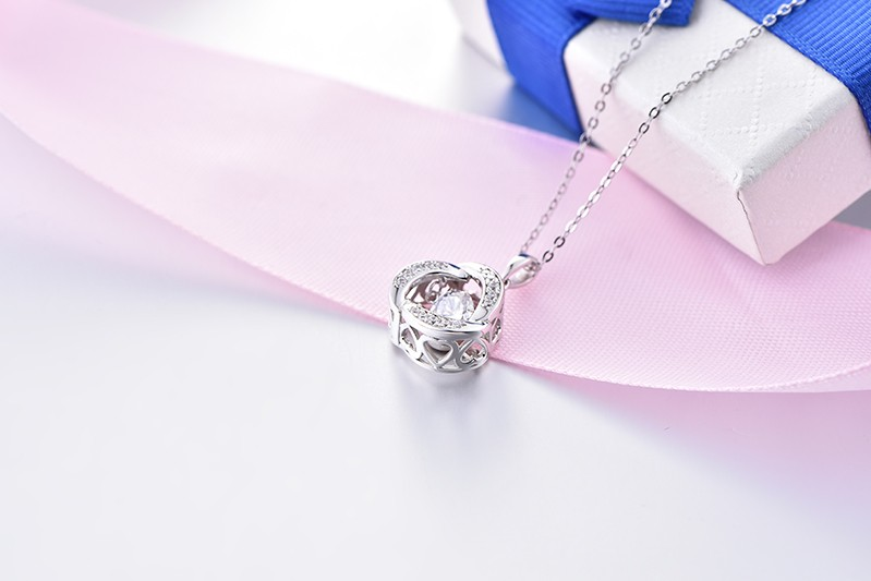 Romantic-925-Sterling-Silver-dancing-AAA-CZ-diamond-pendant-necklace-women-jewelry-wholesale  (5)