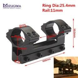 Mizugiwa uma peça de alto perfil magnum airgun scope montar com pino de parada 25.4mm 1 anel apto 11mm ferroviário de andorinha tecelão rifle ar