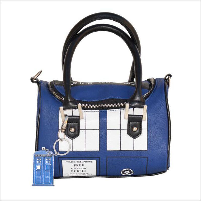 Free shipping 2017 NEW Doctor Who 'the TARDIS Mini Satchel and Metal Charm Keychain Shoulder Handbag pavilion mysterious Handbag doctor who tardis adventure collection box set