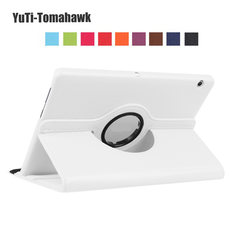Rotation 360 Degree Rotating Litchi Stand Leather Cover Case For Huawei MediaPad T3 10 AGS-L09 AGS-L03 Tablet Freeshipping