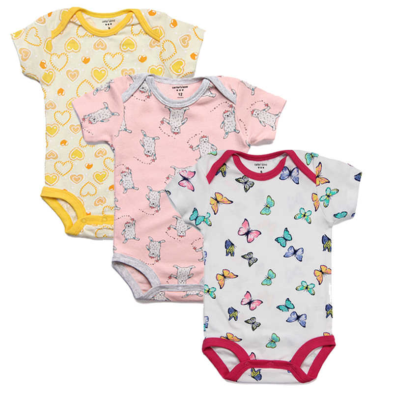 5fbb1d10e8b6 ... 3pcs lot Baby Rompers Kids Jumpsuit Baby Boy Romper Newborn Summer Girl  Infant Clothing Set