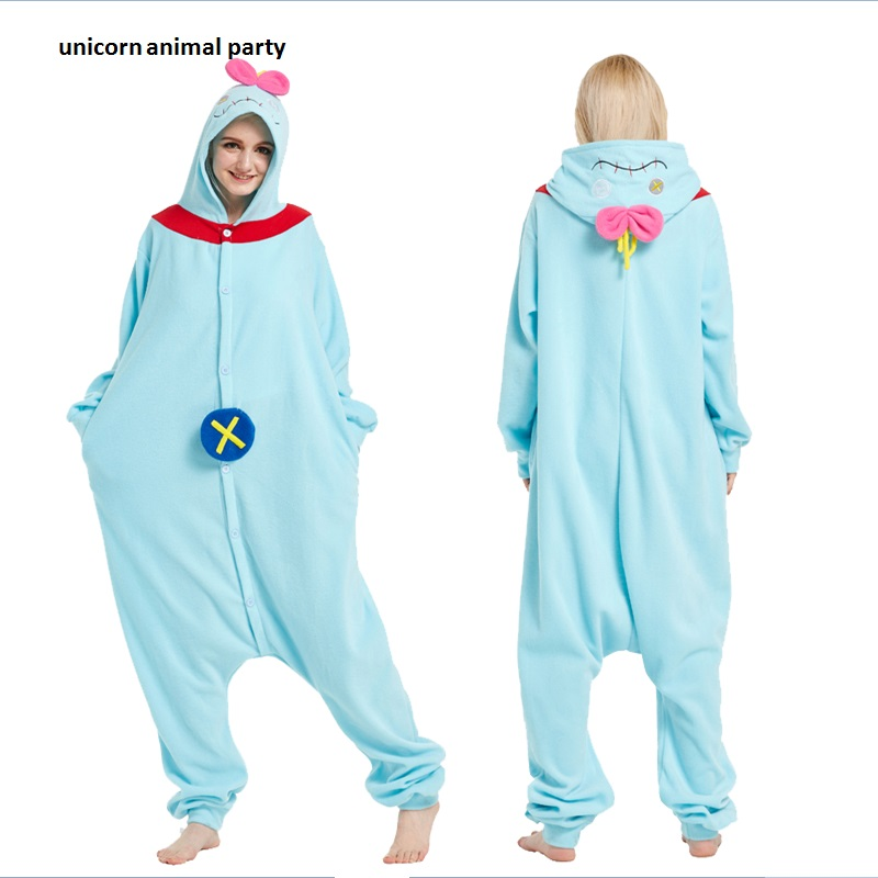 Kigurums Kvinnor Män Onesies Nyhet Pyjamas Pyjamas Jumpsuit Nattduk Karneval Kostymer Vuxen Fleece Anime Terry Scrump Cosplay