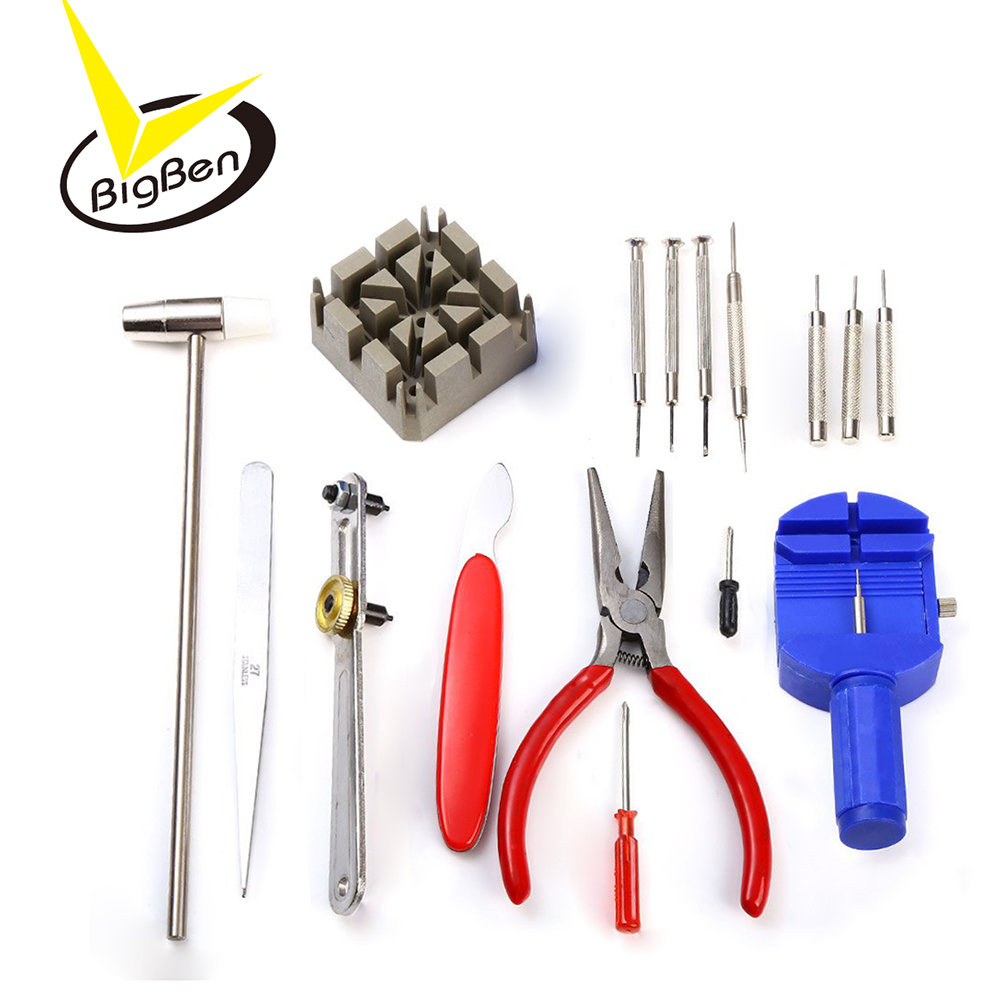 37b48f96e 16 unids piezas herramientas de reloj Kit de reparación de herramientas de  bricolaje abridor herramientas de repuesto para relojes reloj relojero ...