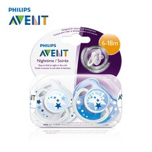 AVENT 2Pcs Baby Infant Pacifier Classic Night Time Baby Pacifier For 6-18 Months BPA Free Prendedor De Chupeta Alimentadora