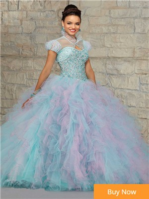 2015-Masquerade-Ball-Gowns-For-Girls-Debutante-Dress-15-Years-Pink-Quinceanera-Dresses-With-Ruffles-Improted