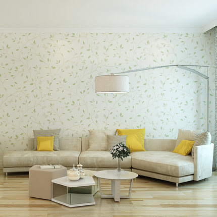 Купить с кэшбэком PAYSOTA Modern Stylish Leaves Wallpaper Bedroom Living Room TV Sofa Background Home decor Wall Paper Roll